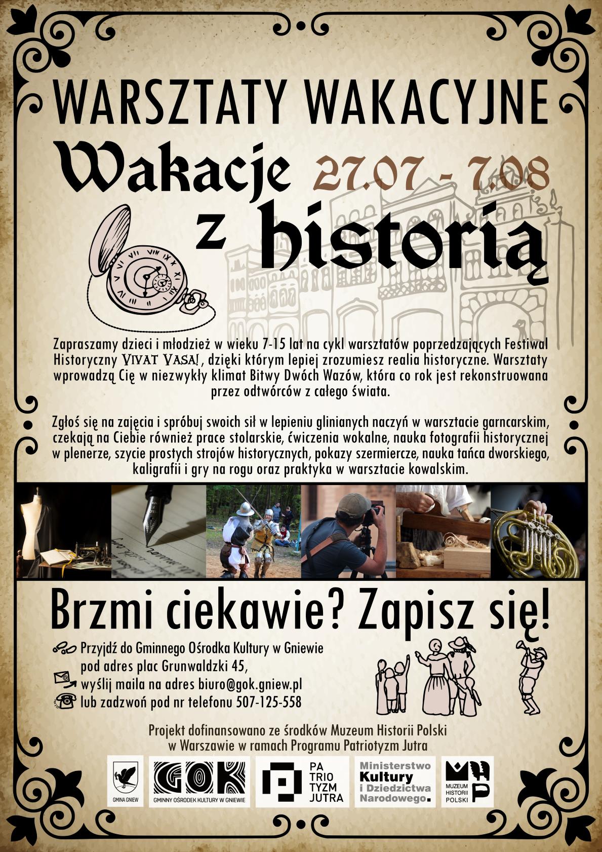 Plakat Wakacje z historią